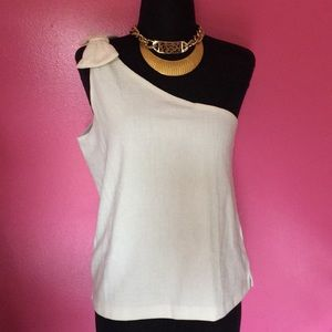 Women's J.crew one shoulder top NWT ivory